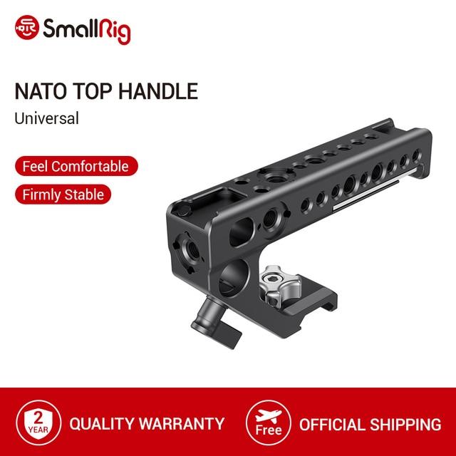 SmallRig Universal Nato Top Aperto do Punho Com o Sapato Frio Montar/15 milímetros Rod Grampo/Buracos Para Câmera Arri gaiola Com a Nato Rail   2439