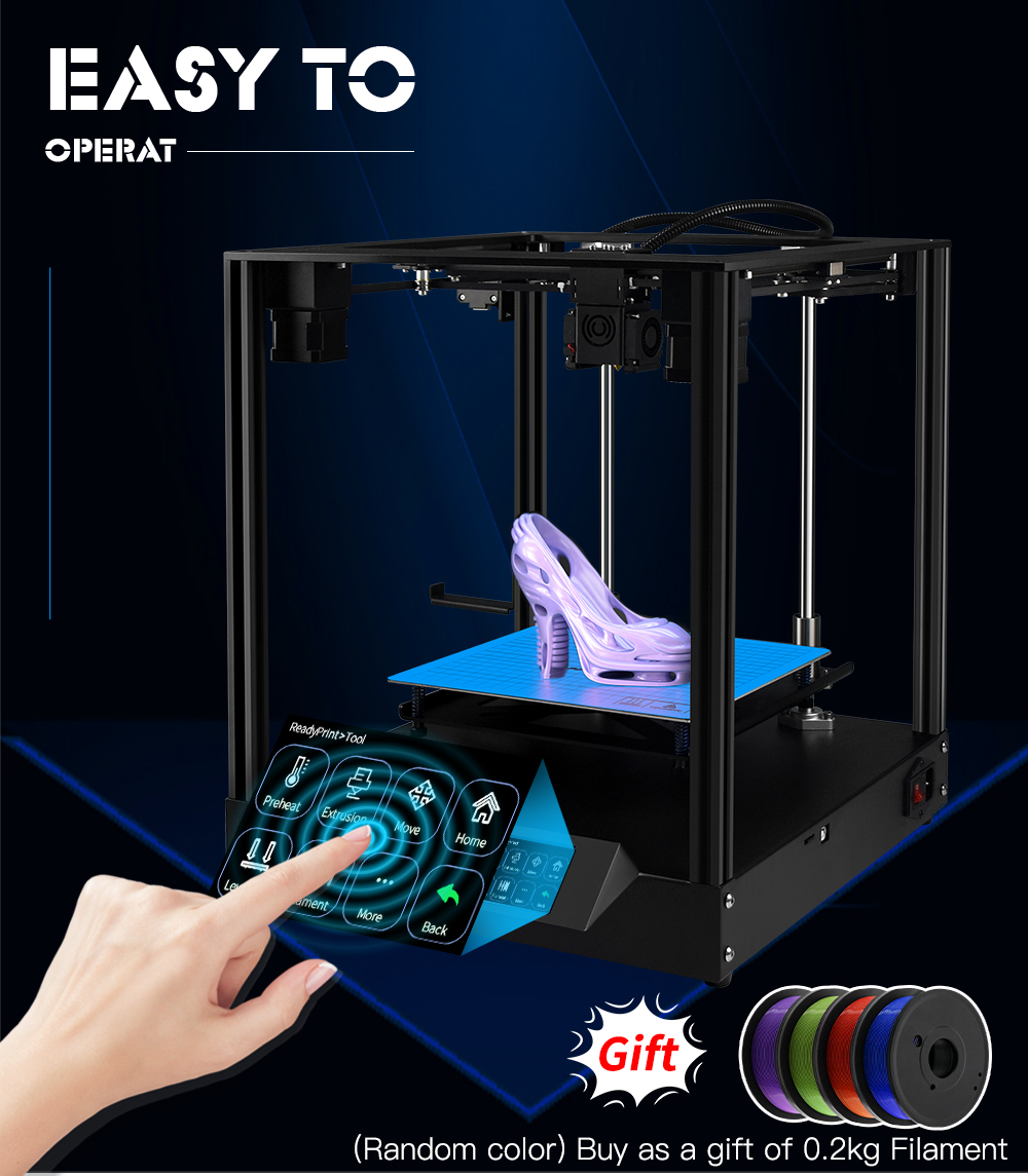 TWO TREES Sapphire 3D Printer With Bottom Sheet Metal Detail Display And Touch Screen