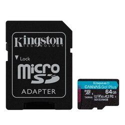 Karta pamięci Micro SD z adapterem Kingston SDCG3 czarna