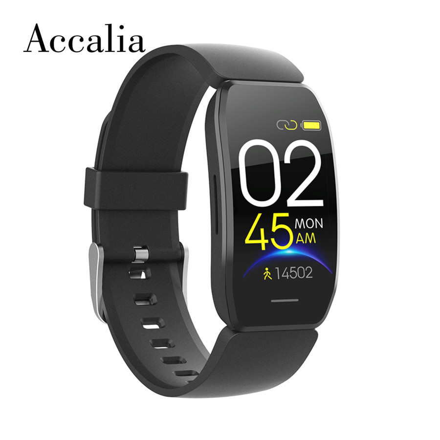 Accalia C114 smart band GPS tracker IP67 waterproof heart rate blood pressure monitor wearable device smart wristband