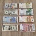 Банкнота евро в долларах США, реальная игрушка без анти-стресса, большая клипса вечерние, для неправильного свадебного хобби, обучающий под...