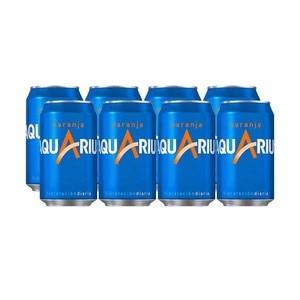 Aquarius Orange can, pack 8x33cl