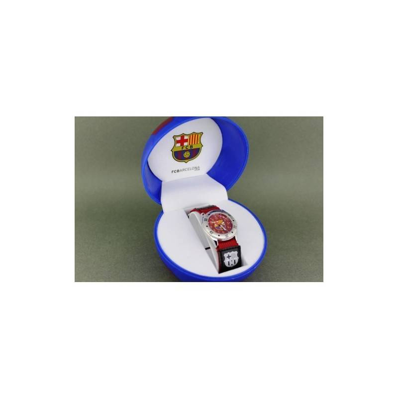 Wrist Watch FC Barcelona Child Velcro Grana