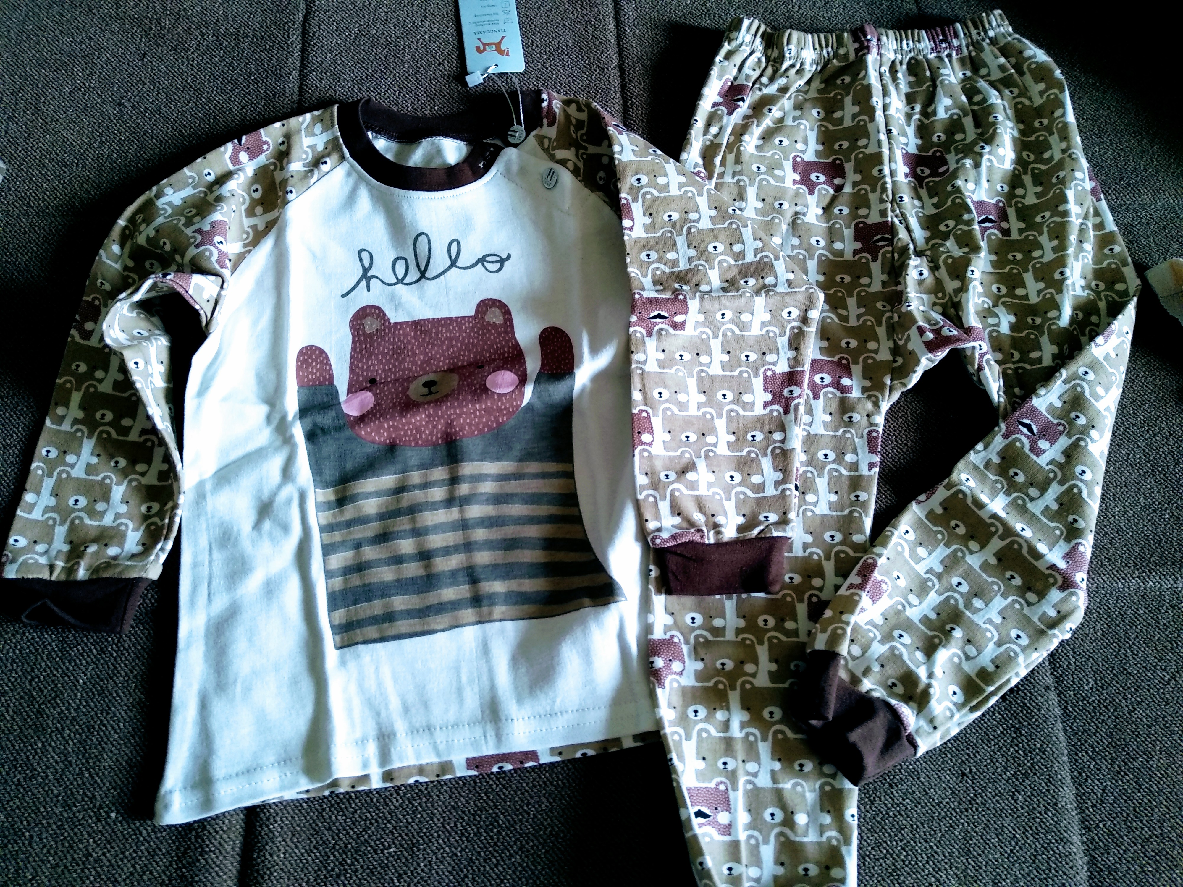 2020 New Baby Boys Clothing Set Kids Pajamas Suit Children Tracksuit Boys Long Shirt Trousers Sleepwear Casual Clothes photo review