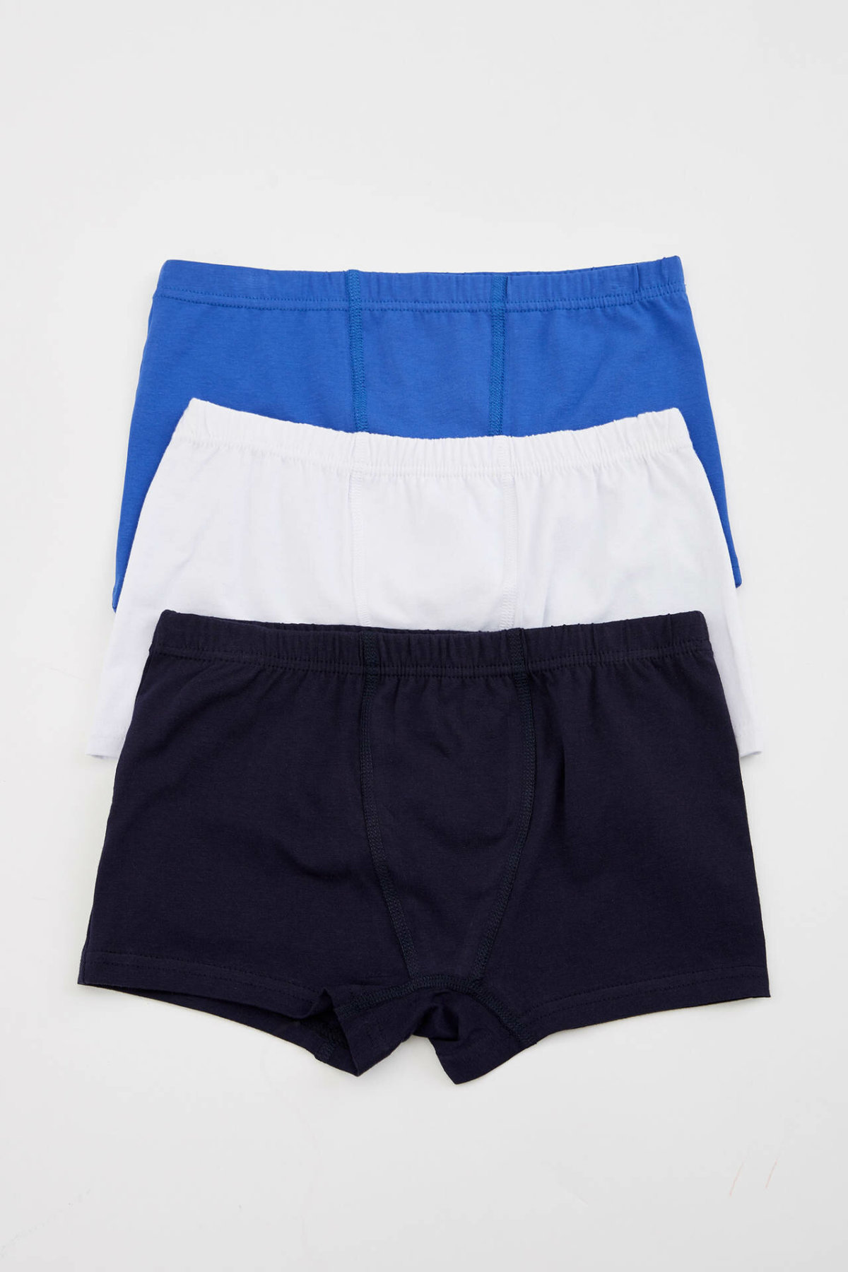 DeFacto Comfort Boy Three-pieces Knitted Boxer Boys Fashion Pure Color Underwear Kids High Elastic Panties New - L1285A619SM