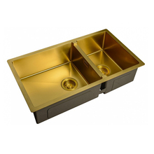 Мойка для кухни ZorG ZL R 780-2-440 BRONZE(цвет бронзовый, габаритные размеры 780 х 440, материал нержавеющая сталь, ф