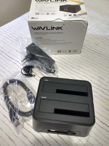 Wavlink Dual Bay SATA to USB3.0 External Hard Drive Docking Station for 2.5/3.5inch HDD/SSD Offline Clone/Backup/UASP Functions reviews №2 38727