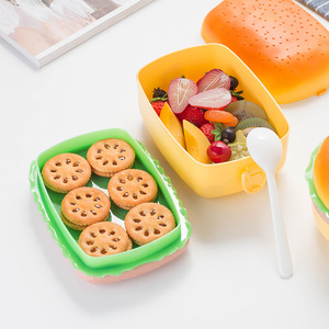 Lunch Boxes Hamburger Lunch Box Burger Box Bento Lunchbox Children School Food Container Tableware Set for Kids