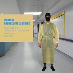 Bata desechable polvo juego de aerosol Siamés no tejido a prueba de polvo ropa blanca trabajo seguridad protección ropa