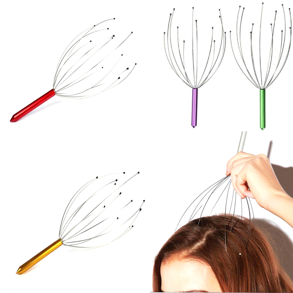 1 pc Octopus Shaped Scalp Massager to Release Stress and Tiredness Helps in Improving Blood Circulation Made of Stainless steel