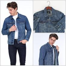 3 DAYS FAST FREE SHIPPING HW 1980 JEANS MENS BLUE DENIM JACKET St Valentine s Gift