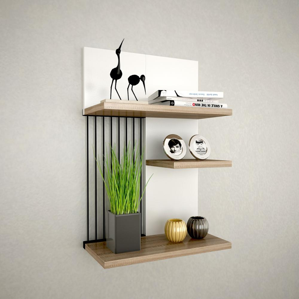 Shelf&Shelf MADE IN TURKEY Modern Shelf 3 Color Options Living Room Wood Wall Book Holder Organizer Bookshelf Rack Bookcase