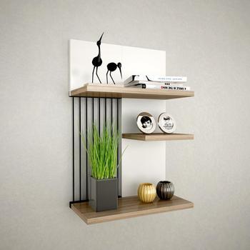цена Shelf&Shelf MADE IN TURKEY Modern Shelf 3 Color Options Living Room Wood Wall Book Holder Organizer Bookshelf Rack Bookcase онлайн в 2017 году