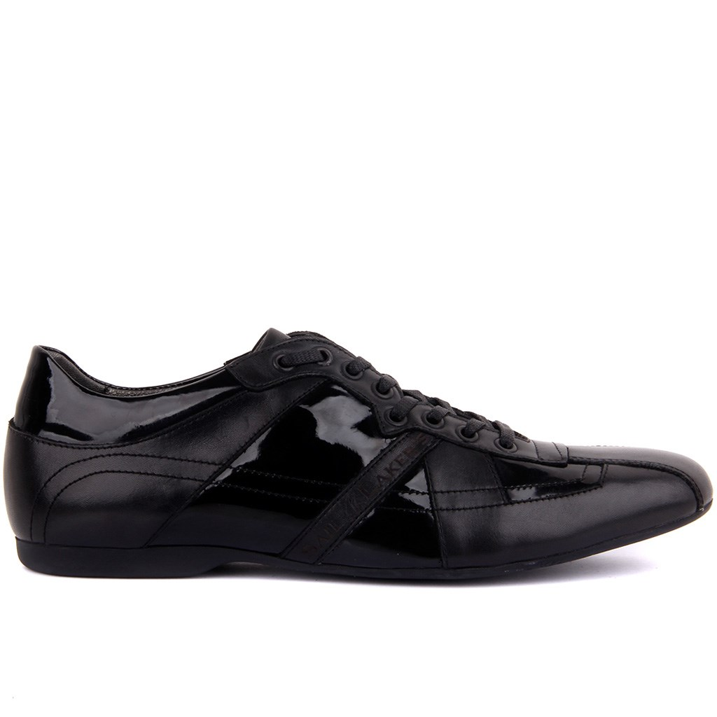 Sail-Lakers Black Patent Leather Leather Men 'S Casual Shoes