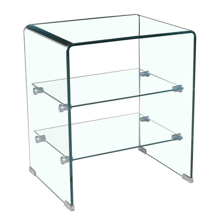 Table CARTHAGE, Curved, Shelves, 50x40 Cms