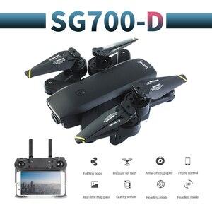 Image 1 - SG700 D profissional kamera drona 720p/1080p 4k HD WiFi FPV silnik szczotkowy śmigło długi na baterie powietrze RC dron Quadcopter