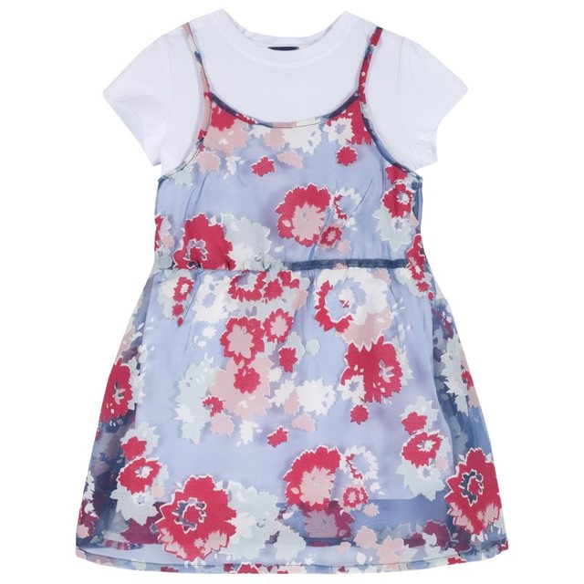 Dress Chicco size 098 print flowers (blue-red)