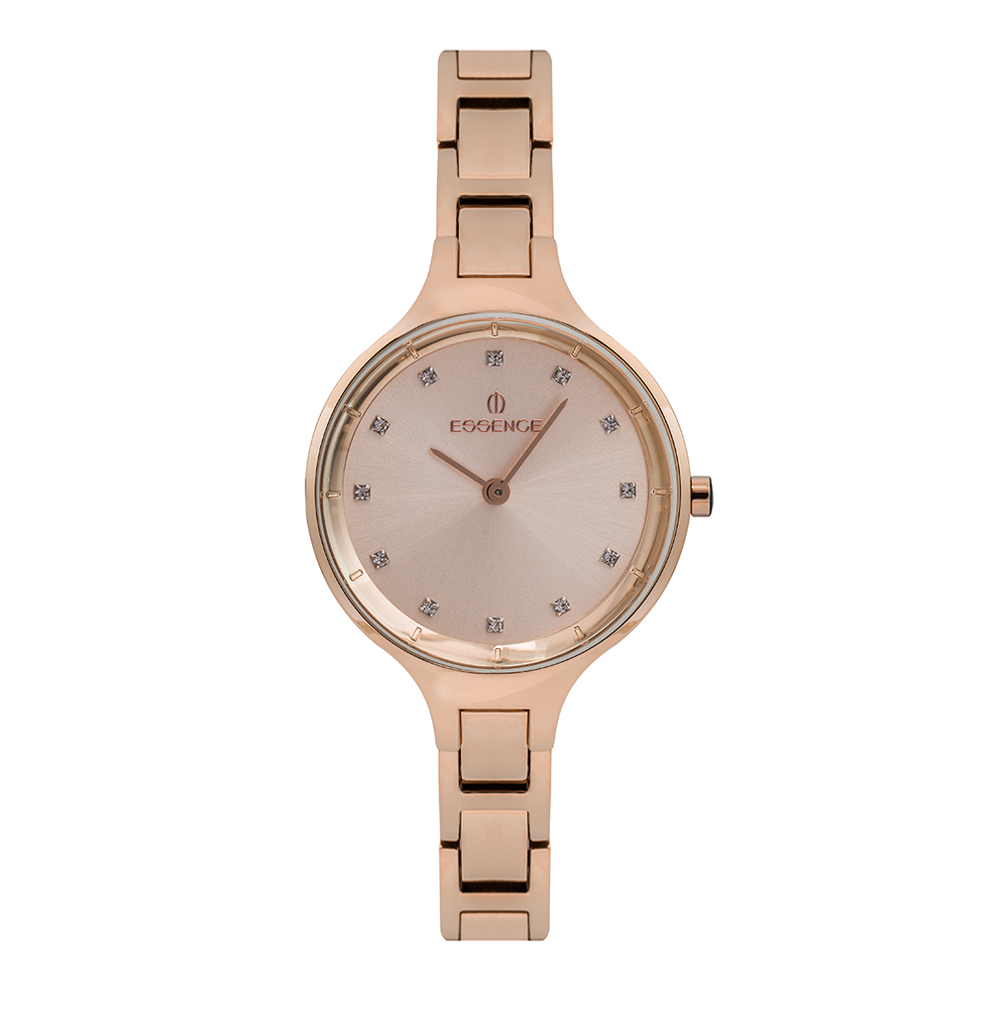 Women's Watch 410 On Steel Bracelet With Pink IP Coating With Mineral Glass Sunlight