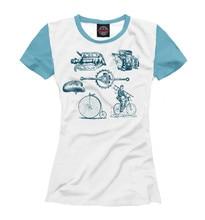 Ladies's T-shirt retro bike