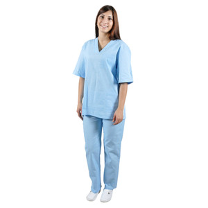Женский костюм хирурга IVUNIFORMA Голубой из Бязи