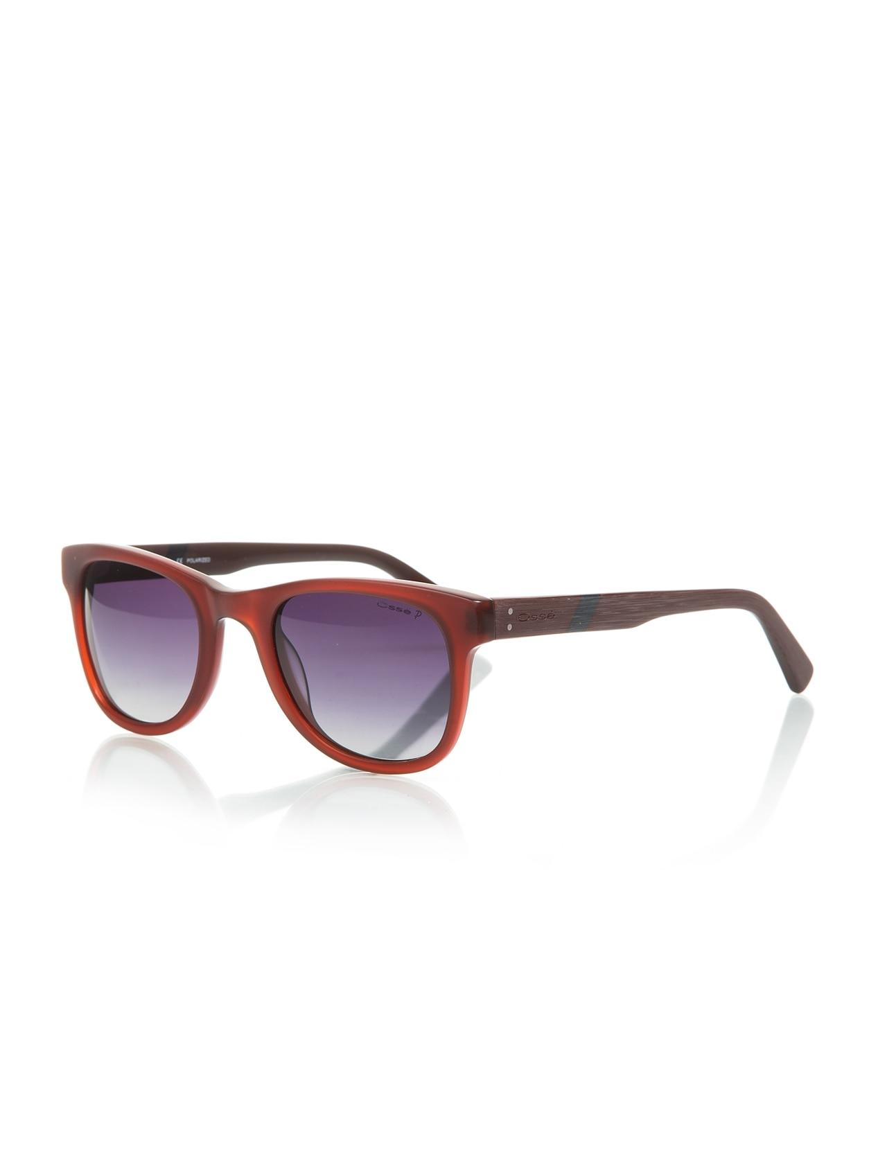 Unisex sunglasses os 2022 03 bone Burgundy organic square square 51-23-145 osse