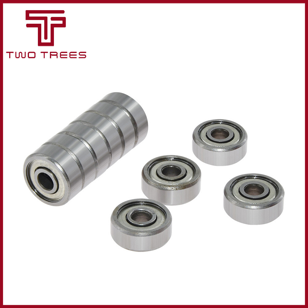 10PCS/lot Flange Ball Bearing 623zz 624zz <font><b>625zz</b></font> 626ZZ 688ZZ Deep Groove Flanged Pulley Wheel for 3D Printers Parts image