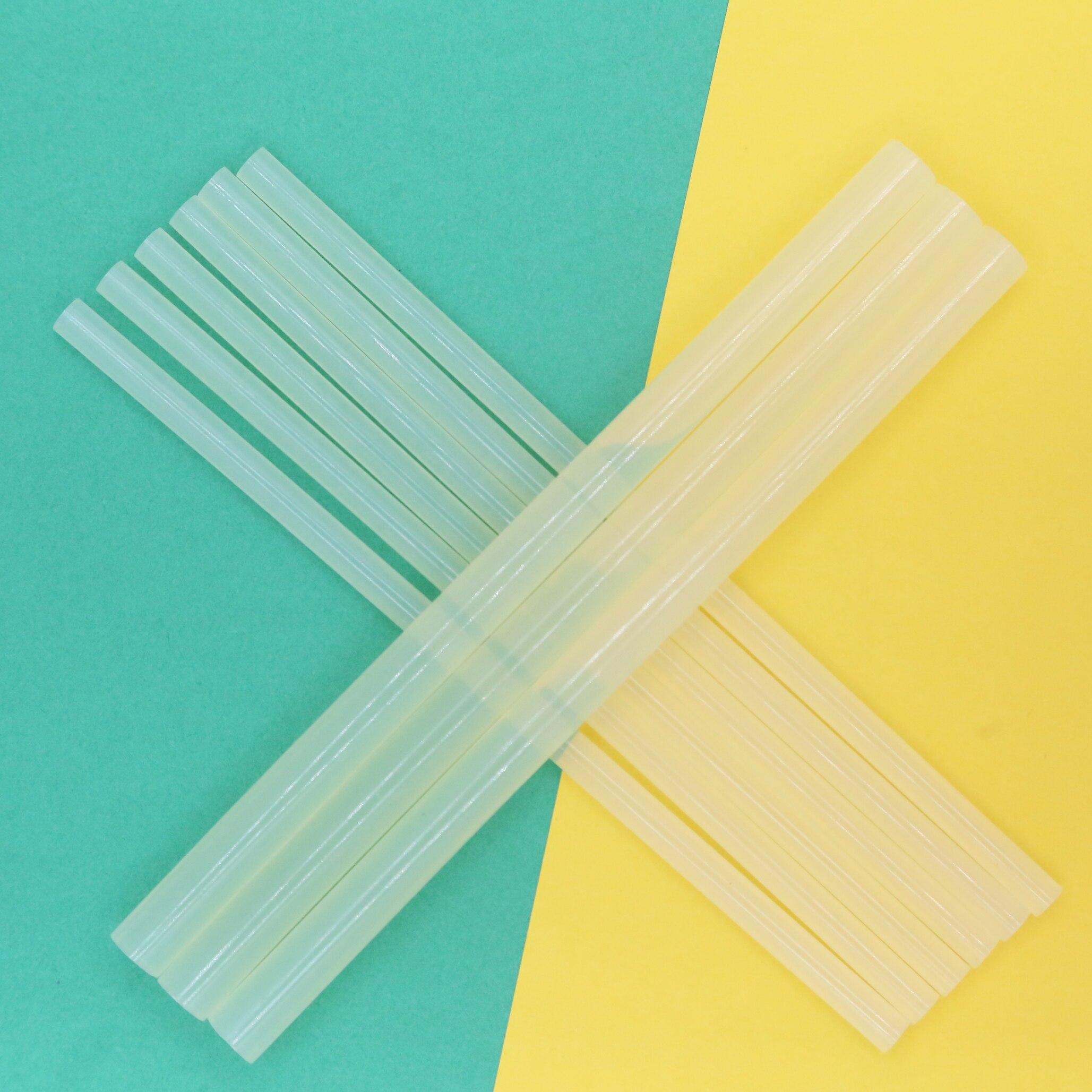 Silicone Bar Glue 7mm X 19cm,1.08cm X 19cm Traslucent Craft DIY Repair Accessory