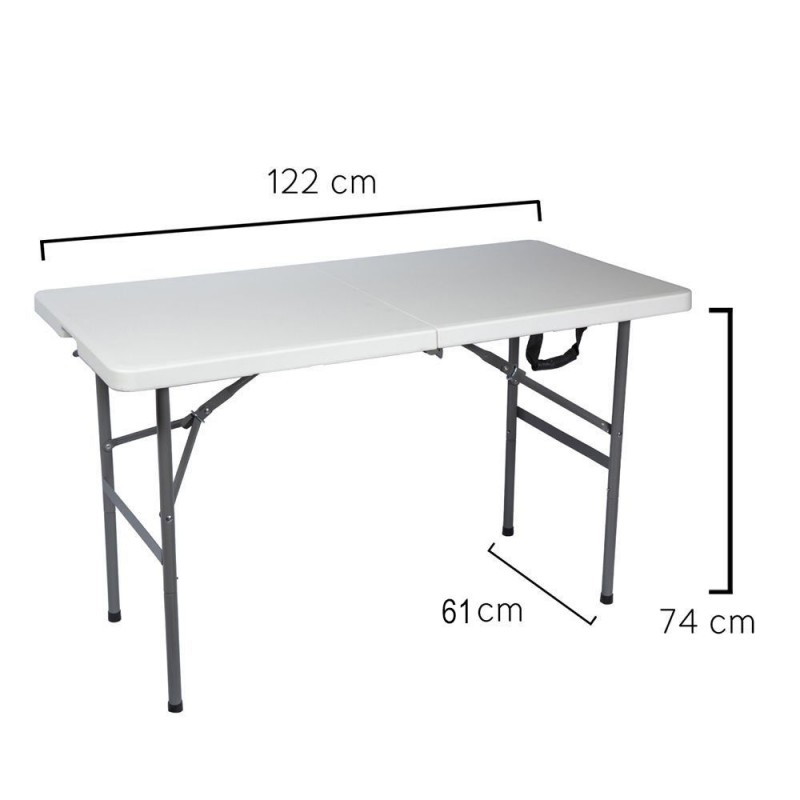 Rectangular Folding Table 122x61x74cm