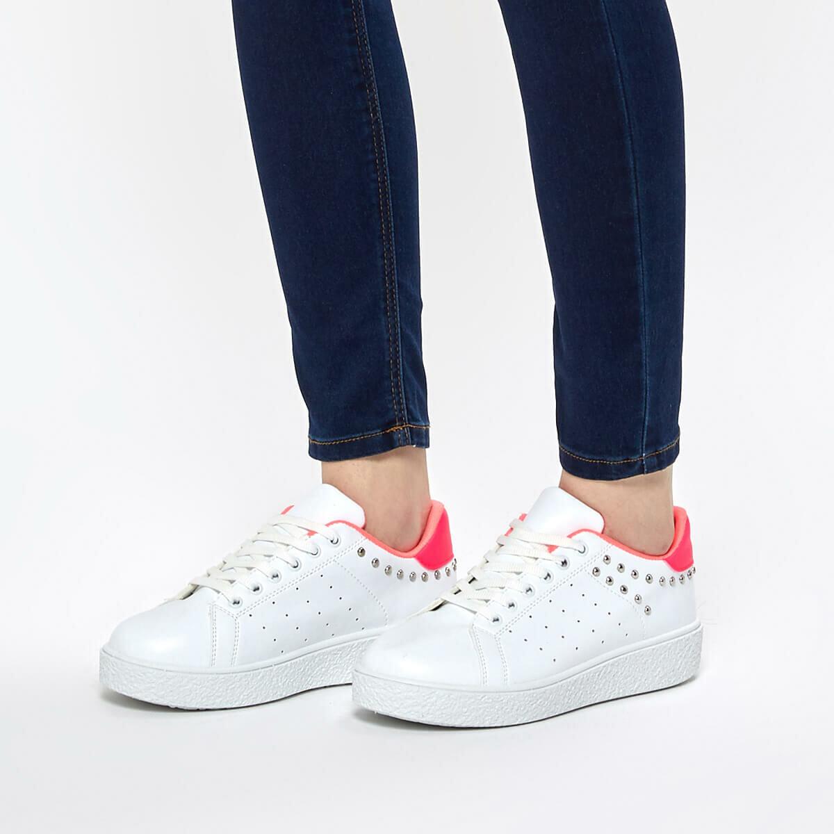 FLO CS19068 Fuchsia Women Sneaker Shoes Art Bella