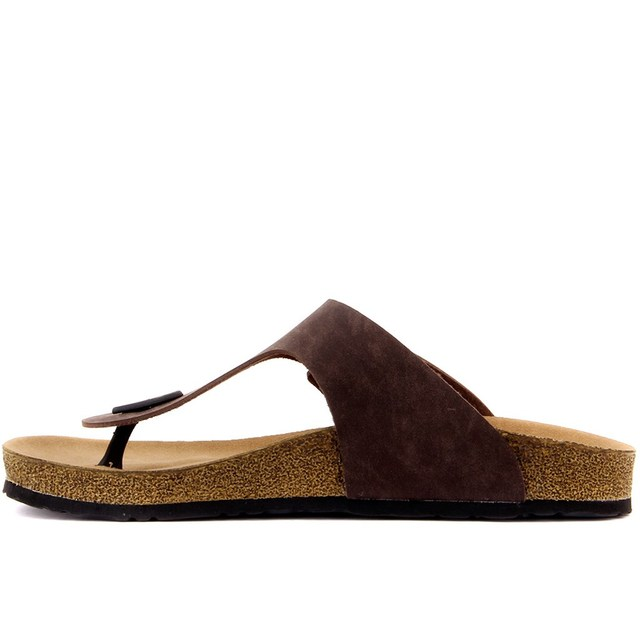Fly Soft-Brown Color Men 'S Thong Slippers