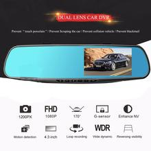 Car DVR Camera Mirror Auto-Dash-Cam Video-Recorder Dual-Lens Digital Durable 1080P HD