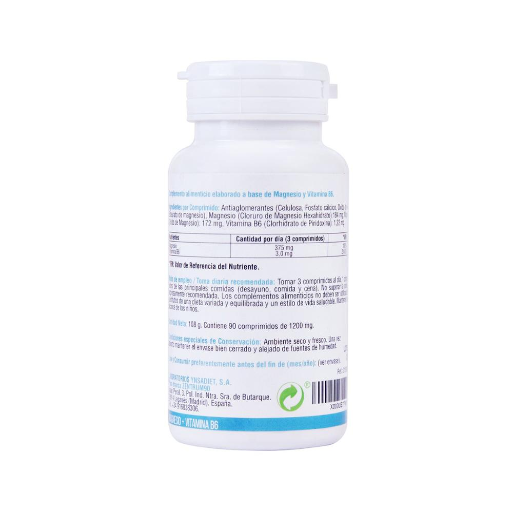 Magnessium with vitamin B6 | Reduces tiredness | Magnessium and B6 Increases the daily Energia | 90 tablets Zentrum