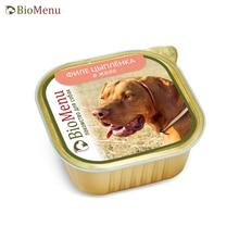 BioMenu Консервы д/собак лакомство Филе цыплёнка в желе 150гр, 10 шт
