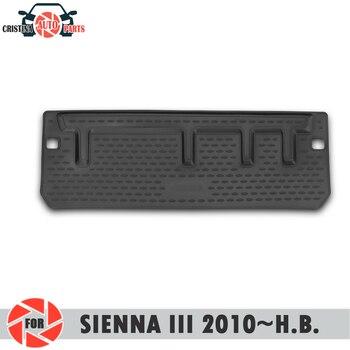 Alfombrilla de maletero para Toyota Sienna III 2010 ~ 2019 alfombras de suelo de maletero antideslizantes de poliuretano protección de suciedad interior del maletero del coche estilo
