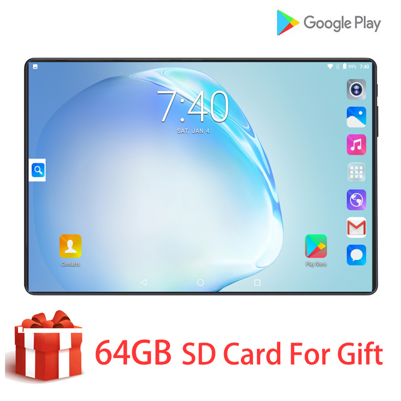10 Inch Tablet Android 9.0 Google Market 4G LTE Octa-Core 6G+128G ROM HD 1280x800 Dual Sim Card WiFi Gps Tablet PC Gift For Kids