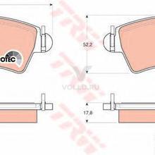 TRW GDB1501 Колодки тормозные дисковые передн PEUGEOT: 206 CC 00-, 206 хечбэк 99