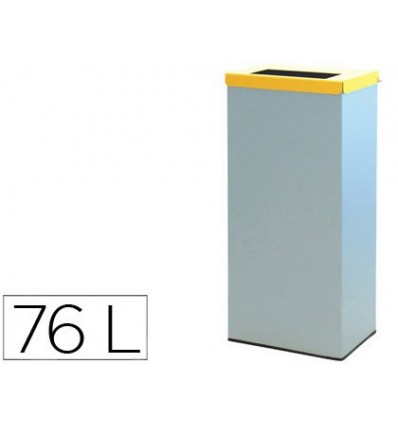 CONTAINER RECYCLING Bin WITH HINGED LID AND INNER RING CAPACITY 76 LITERS 81X36,5X26 CMS