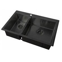 Мойка для кухни ZorG ZL R 780-2-510-R GRAFIT(Звукопоглощающее покрытие, накладки с обратной стороны
