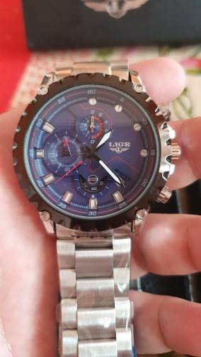 LIGE Top Brand Luxury Mens Fashion Watch Sport Waterproof Quartz Watches All Steel Army Military Watch Relogio Masculino photo review