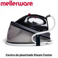 MELLERWARE - Centro de planchado Steam Center2 400. Suela cerámica. 2200W. 90g/min. Self-Smart Technology. Sistema antical.