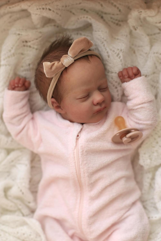 Rbg 17 polegadas ashley dormindo renascer bebê lifelike boneca unpainted inacabado peça diy kit em branco presente lol brinquedos para a menina crianças