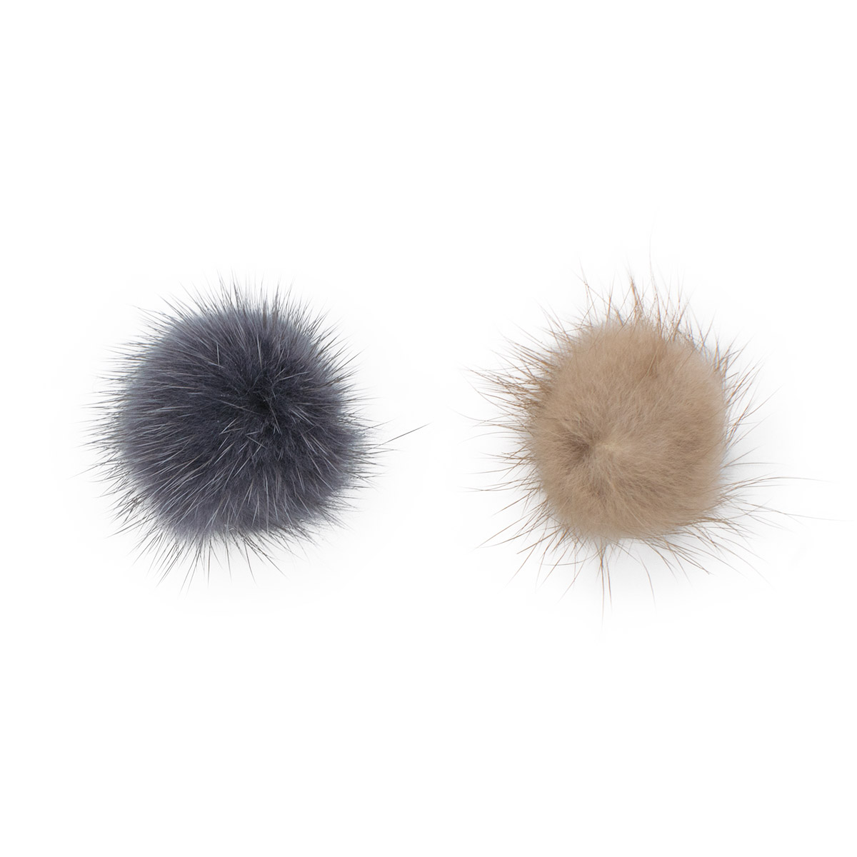 Yk-01040 Set For Creativity Pompon Natural Mink 2 Cm, 2 Pcs/pack