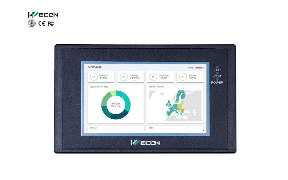 Wecon LEVI-2043E Small Size HMI Panel Communicate With Most Brands PLC