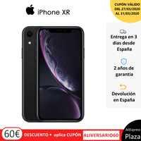 """Smartphone Apple iPhone XR (64 GB de ROM, 3 GB de RAM, Color Negro, Cámara trasera de 12 MP, Cámara Selfie de 7 MP, Pantalla de 6,1"""", Sistema iOS, Nuevo, Libre) [Teléfono Móvil Versión Española]"""
