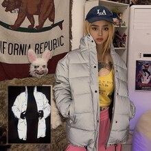 Sisterlinda Reflective Warm Long Jacket Women's Outerwear Parka Jacket