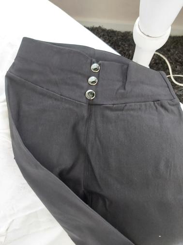 Women'S Black Pants Pencil Trousers Spring Fall Button Pocke Pants Women Slim Ladies Jean Trousers Female High Waist Pants photo review