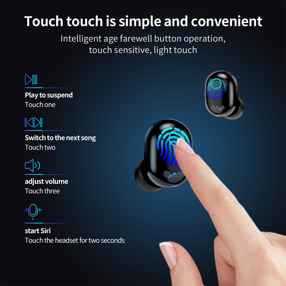 TWS Bluetooth 5.0 Wireless Bluetooth Earphones Mini Earbuds Stereo Headphone Handsfree Headset Earphone