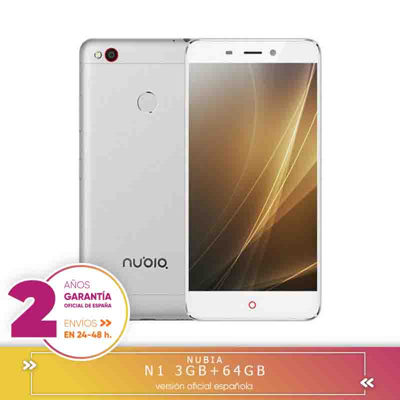-Square Warranty-ZTE Nubia N1 5.5 Inch FHD Screen 3 Hard GB RAM 64 Hard GB ROM 13.0MP Cam MTK Helium P10 Octa Core 4G LTE Android 6.0