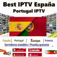 Mejor suscripción IPTV España Portugal IPTV M3U España Portugal gratis 1 año de suscripción IPTV para Smart TV Engmia2 Android TV Box