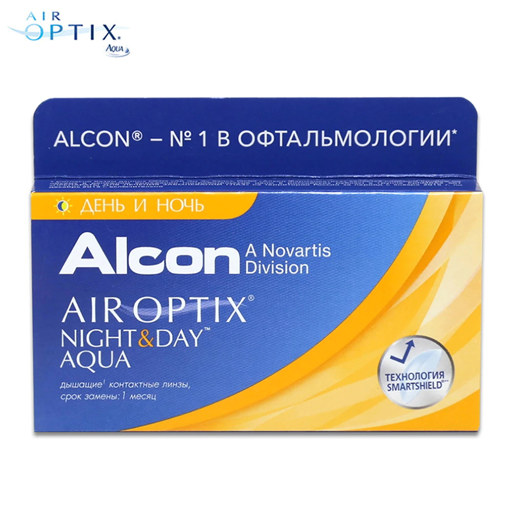Contact Lenses Alcon Air Optix Night & Day Aqua  15 eye lens vision correction health care контактные линзы alcon air optix aqua 6 шт r 8 6 d 05 25
